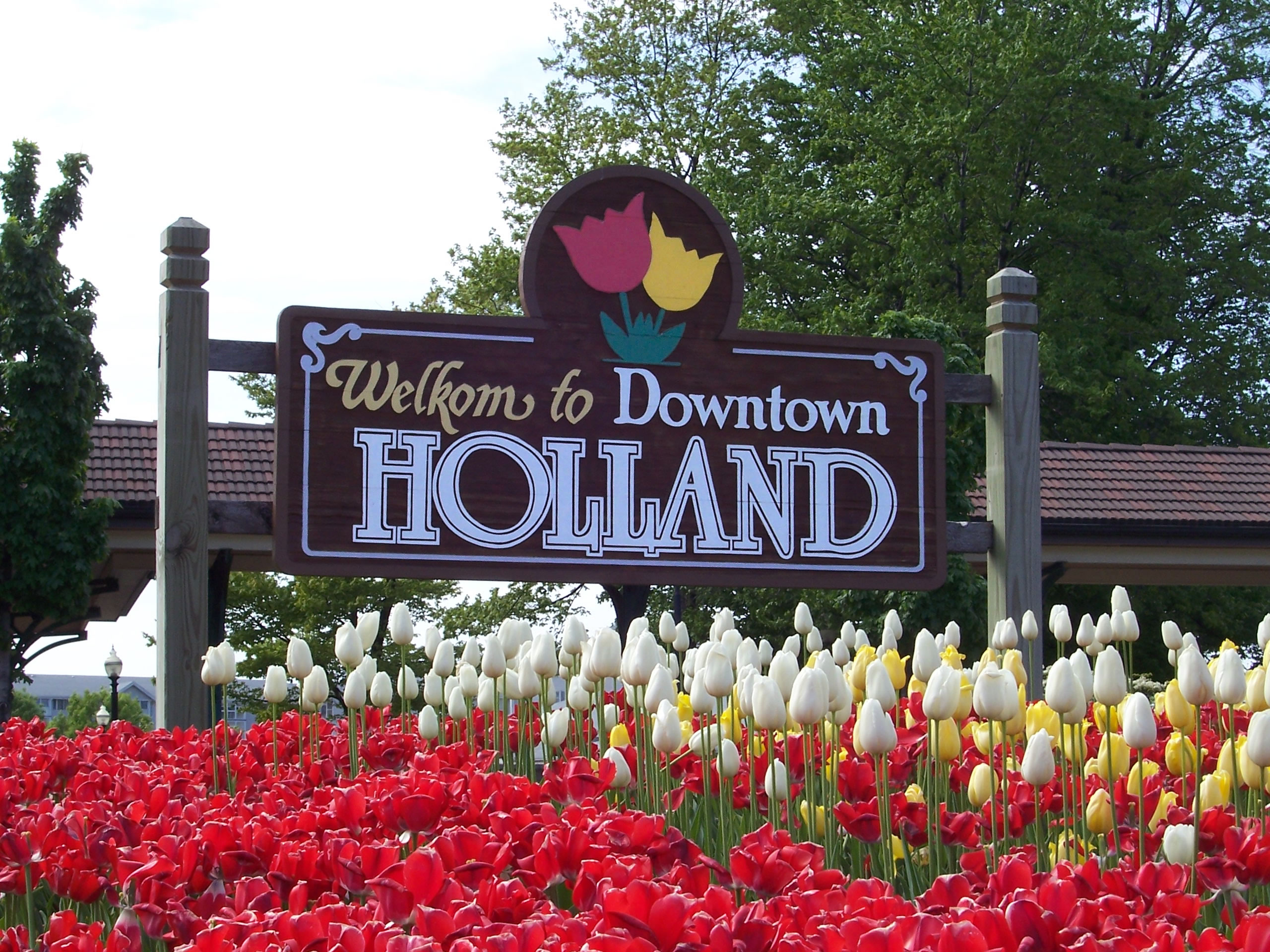 Holland is a city in the western region of the Lower Peninsula of the U.S. state of Michigan. It is situated near the eastern shore of Lake Michigan on Lake Macatawa, which is fed by the Macatawa River (also known locally as the Black River).